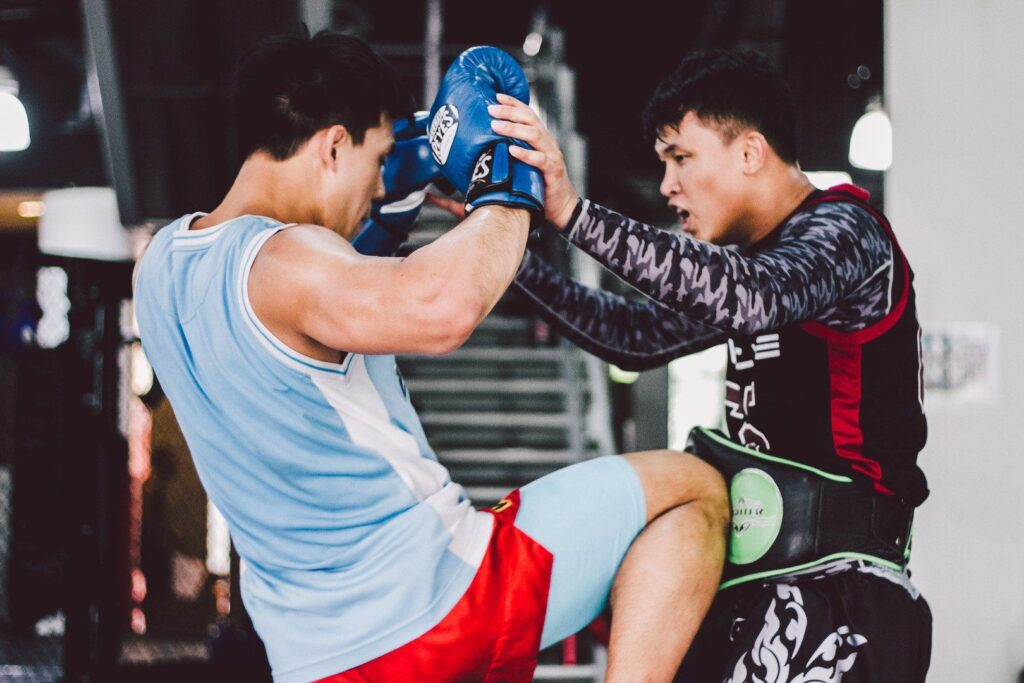 ONE Superstar Eddie Ng works on his striking with multiple-time Muay Thai World Champion Chaowalith Jockey Gym.