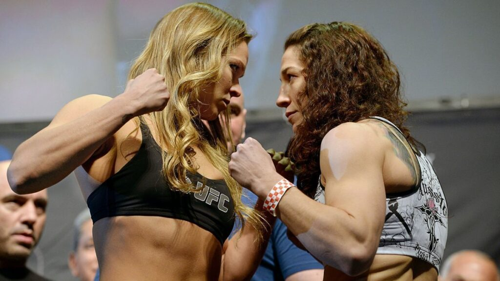 Olympic wrestling silver medalist Sara McMann says being a mom is harder than fighting, and that she can be at peace in the cage.
