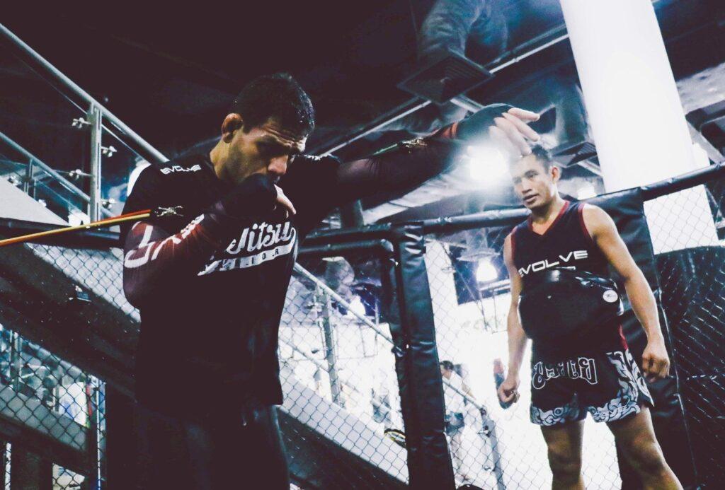 UFC Lightweight World Champion Rafael Dos Anjos trains hard at the Evolve MMA Fighters Program.