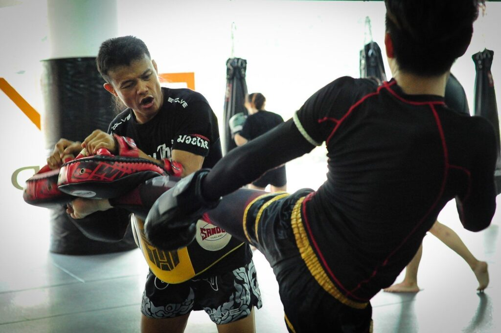 Multiple-time Muay Thai World Champion Orono Wor Petchpun teaches Muay Thai at Evolve MMA.