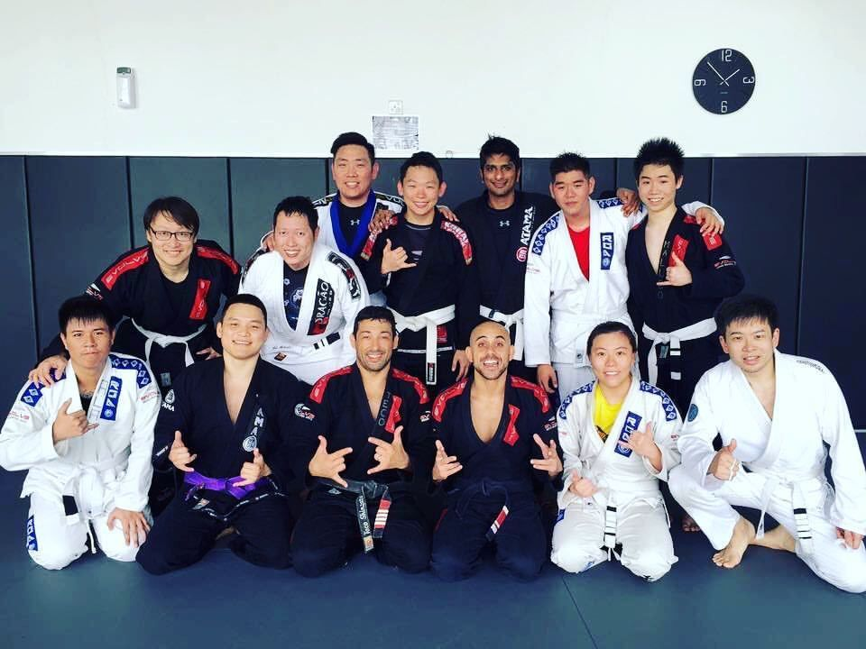 "Terry attends a BJJ class with 2x BJJ World Champion Teco Shinzato and BJJ Mundials World Championship Silver Medalist Thiago ""Guli"" Kozama."