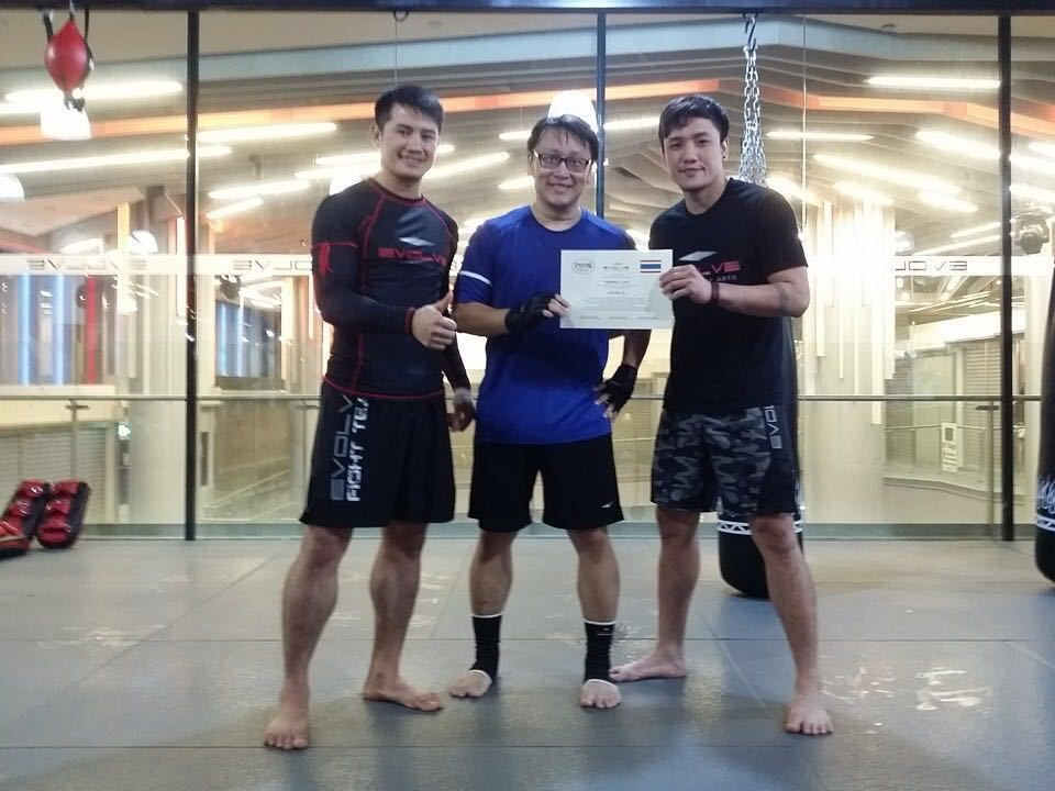 This year, Terry received his Level 2 certification in Muay Thai.