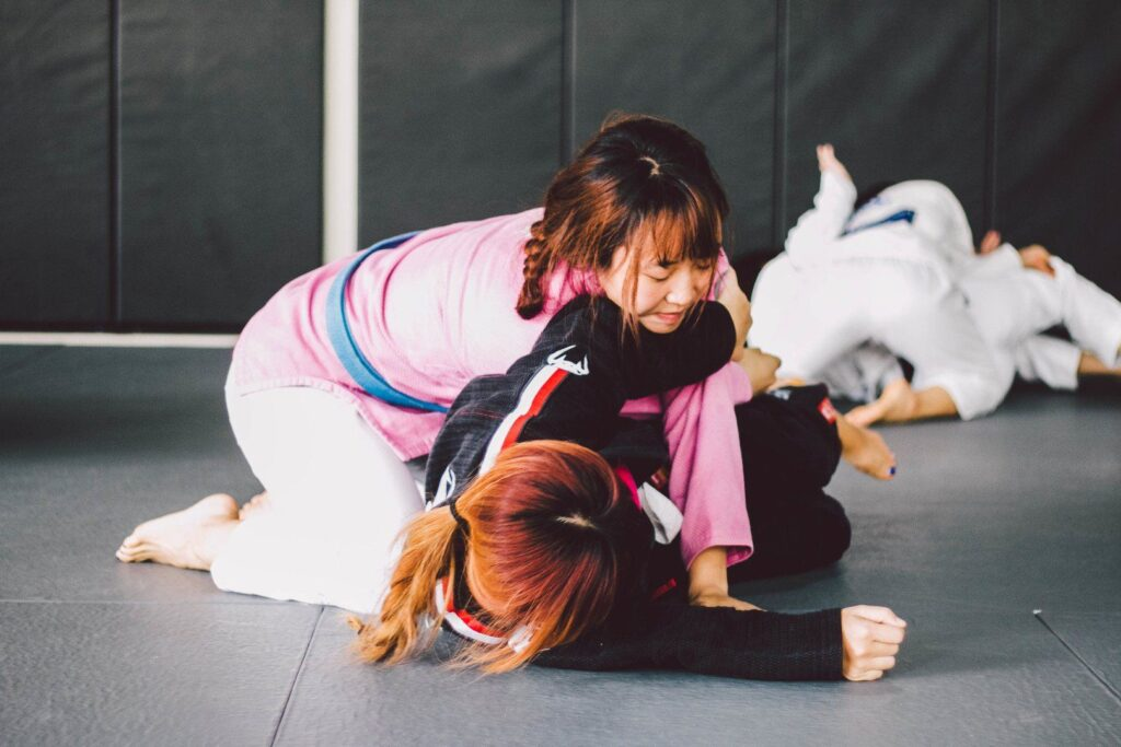 BJJ enables a smaller person to overcome a bigger, stronger opponent.