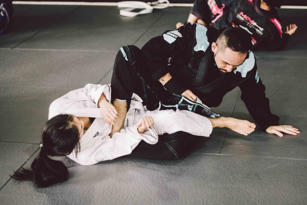 BJJ enables a smaller person to overcome stronger, bigger opponents.