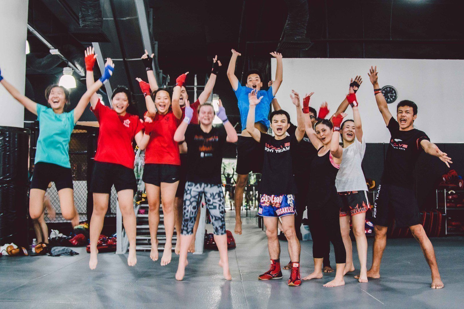Just another fun boxing class at Evolve MMA!