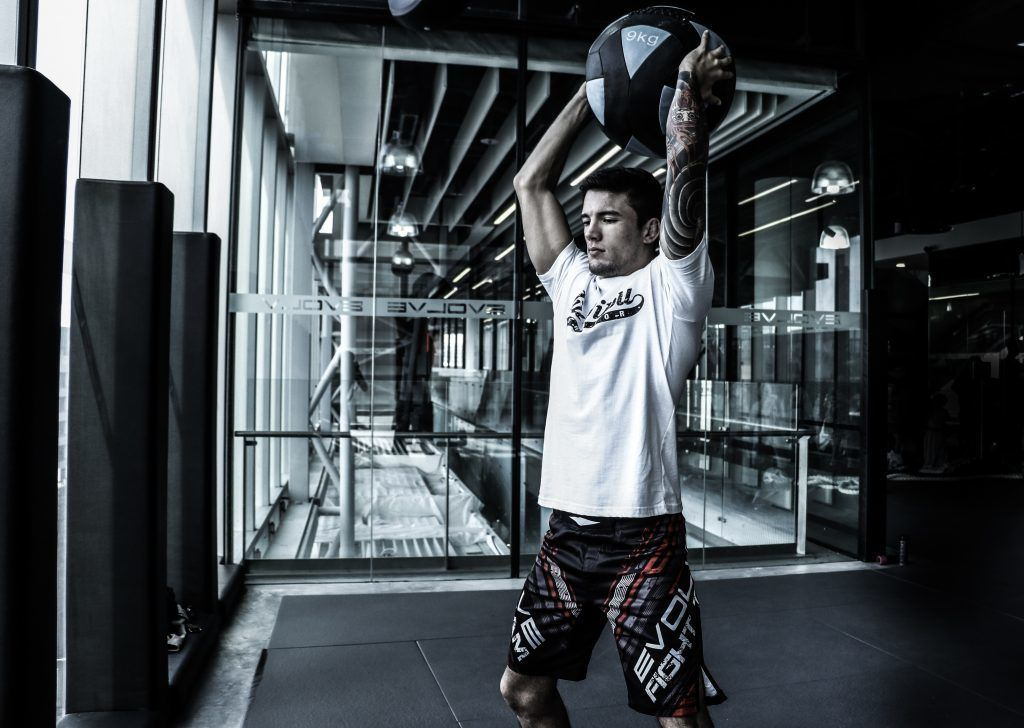 The medicine ball slam is a great full-body, compound, multi-joint exercise.