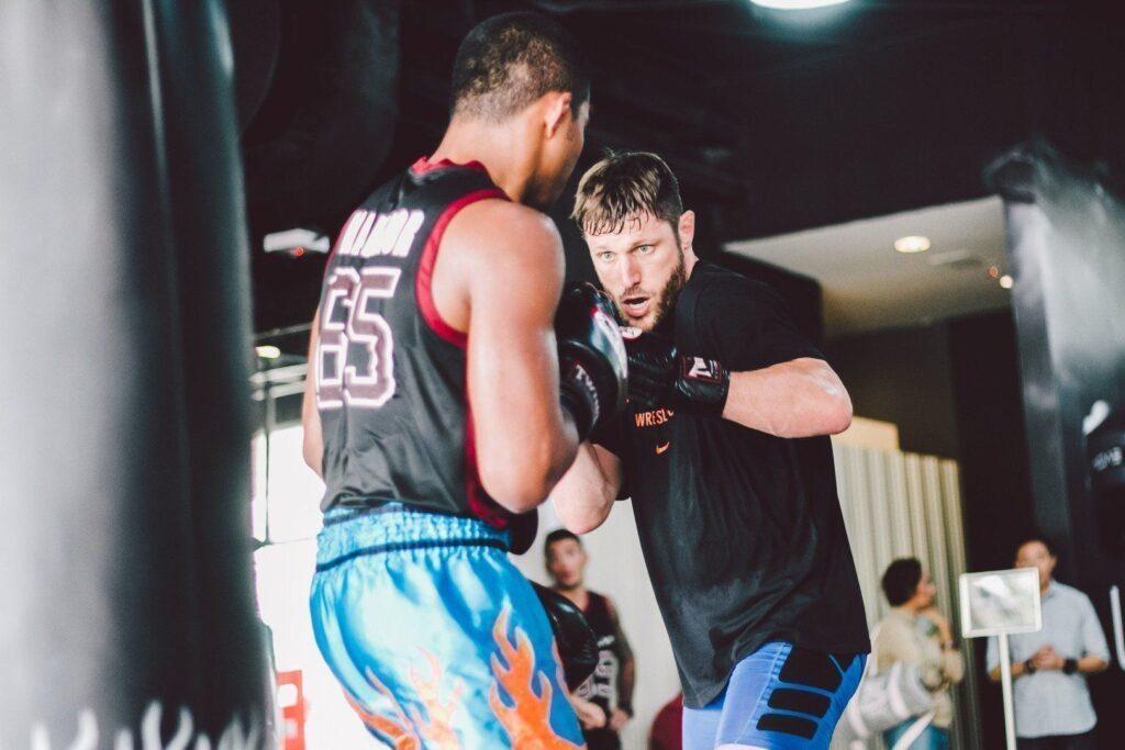ONE Superstar Jake Butler trains hard at the Evolve Fighters Program.