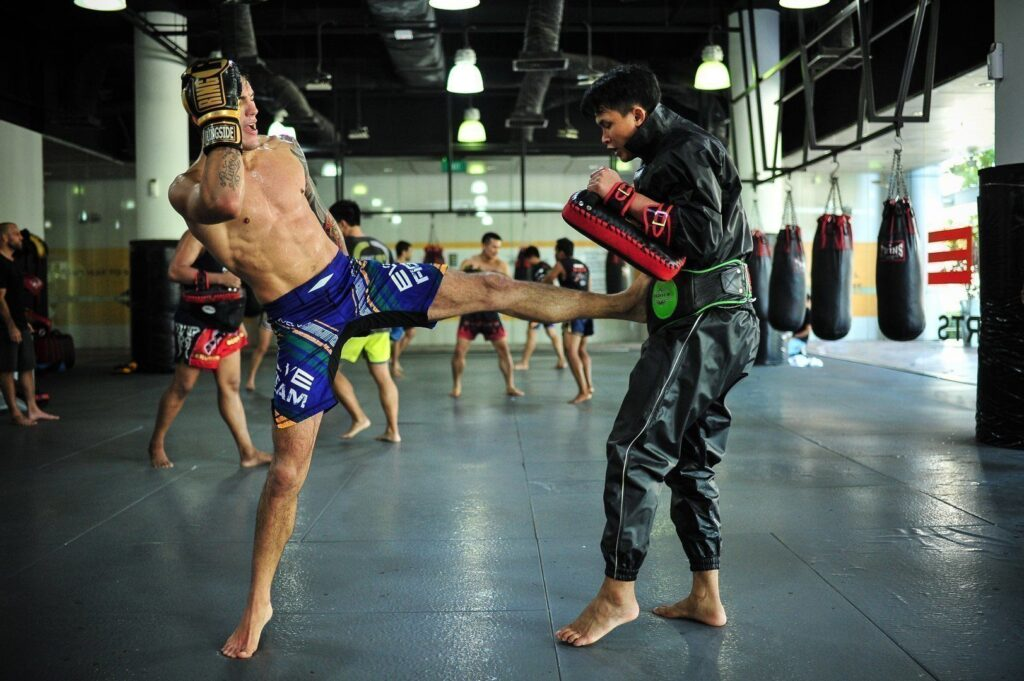 The push kick helps to create distance between you and your opponent.