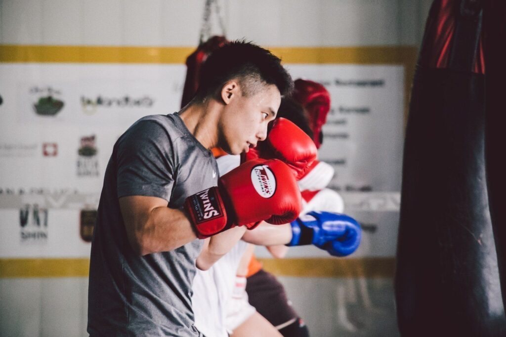 Training on a heavy bag is a great way to de-stress after a long day.