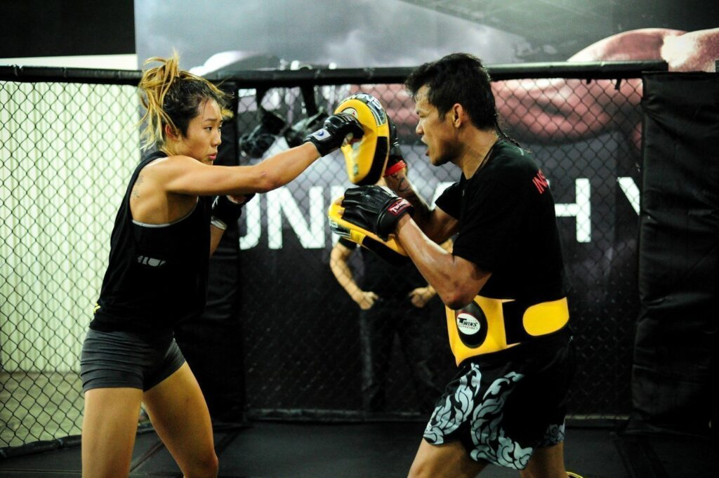 ONE Women's Atomweight World Champion Angela Lee always gives her 100% when training.
