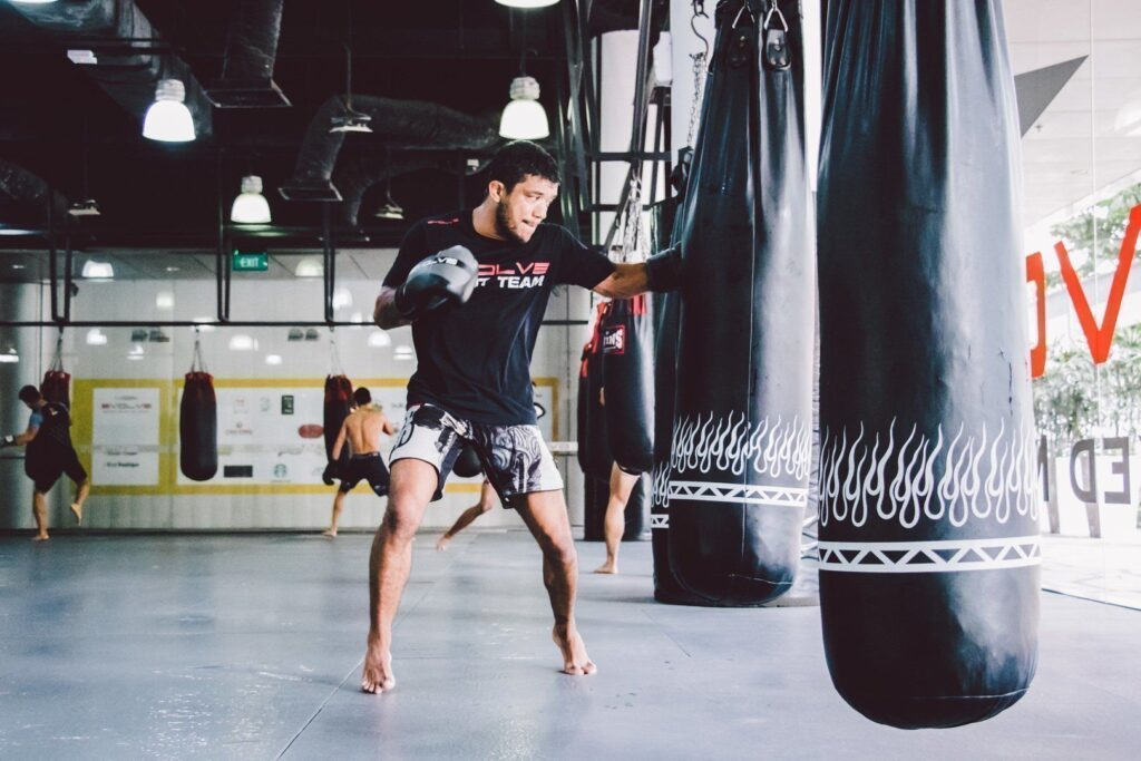 ONE Superstar Alex Silva works on his striking at the Evolve Fighters Program.