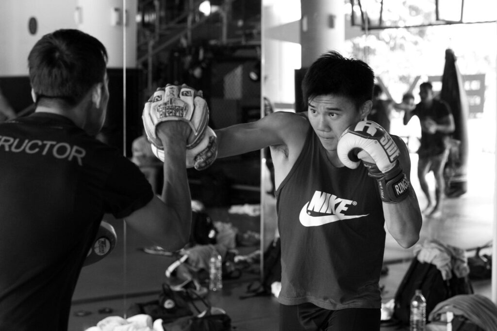 ONE Superstar Benedict Ang prepares for his upcoming fight at the Evolve Fighters Program.