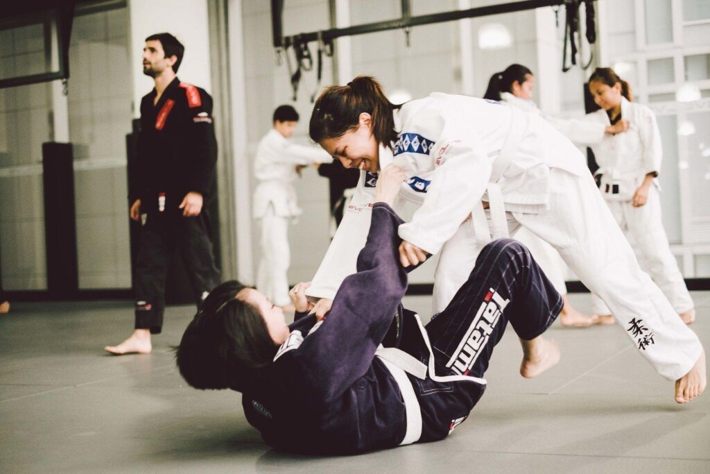 Brazilian Jiu-Jitsu enables a small person to overcome bigger, stronger opponents.