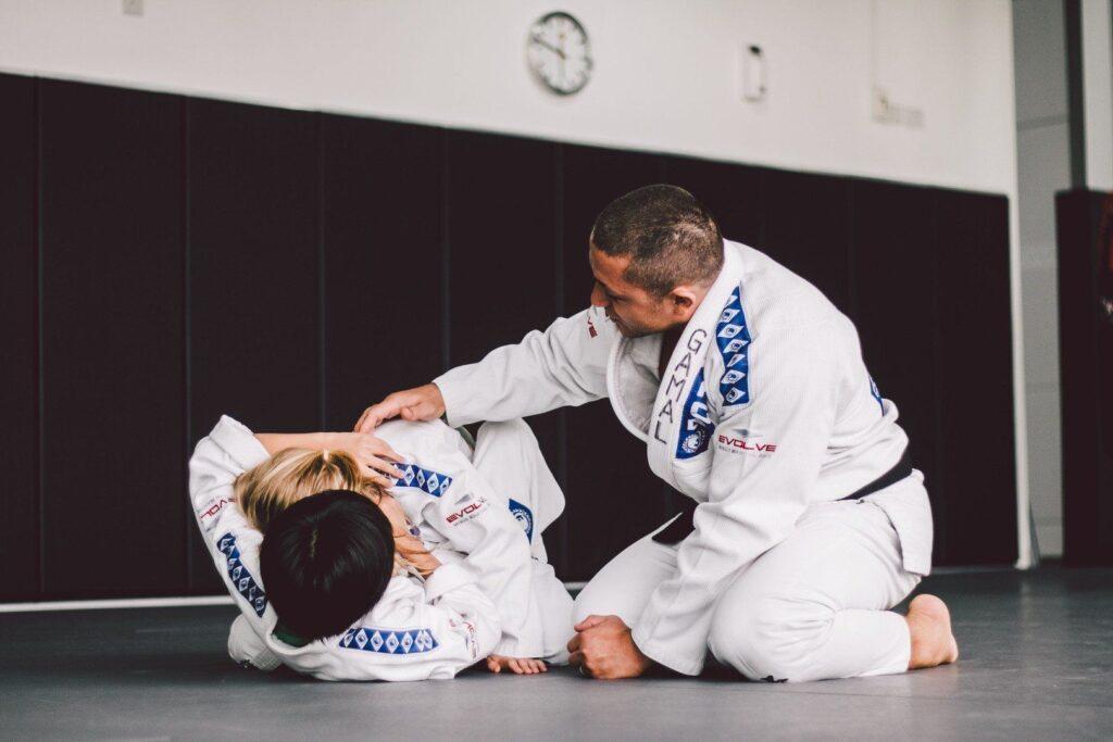 Brazil Nationals Champion Gamal Hassan teaches kids BJJ at Evolve MMA.