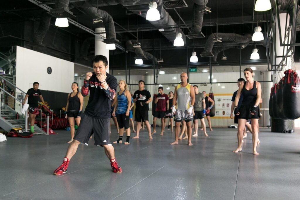 Multiple-time WBC Boxing World Champion Pongsaklek Wonjongkam teaches boxing at Evolve MMA.