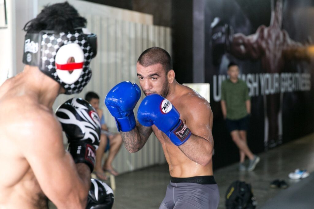 "UFC Superstar Leandro ""Brodinho"" Issa trains hard at the Evolve Fighters Program."