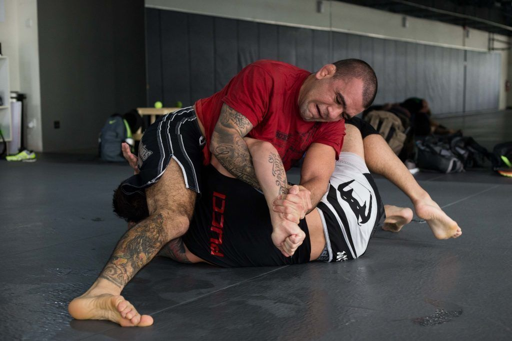 "UFC Superstar Leandro ""Brodinho"" Issa works on his grappling at the Evolve Fighters Program."