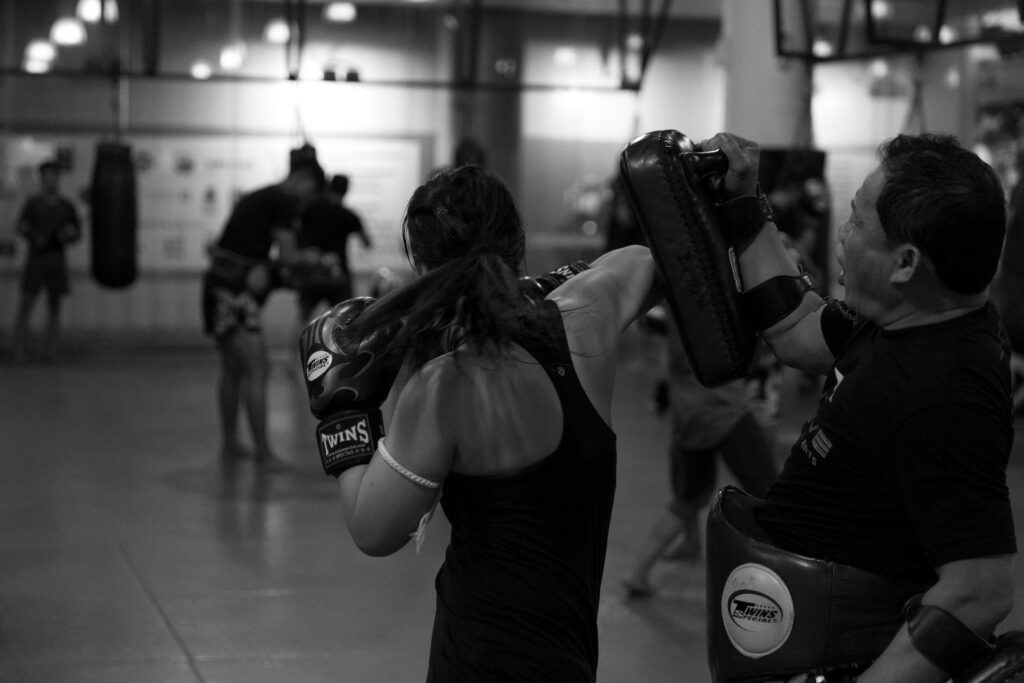 You can burn up to 1,000 calories in a 60 minute Muay Thai training session.
