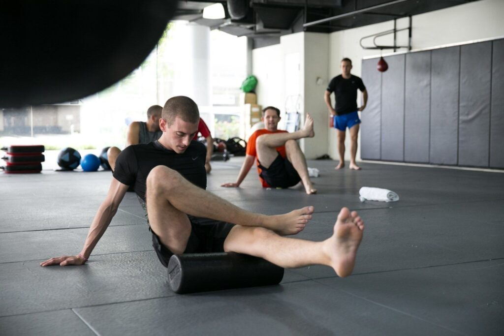 Foam rolling is a great way to increase blood flow to your muscles and help reduce soreness.