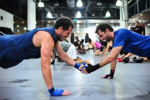 You are more likely to stay committed to working out when you train with a buddy.