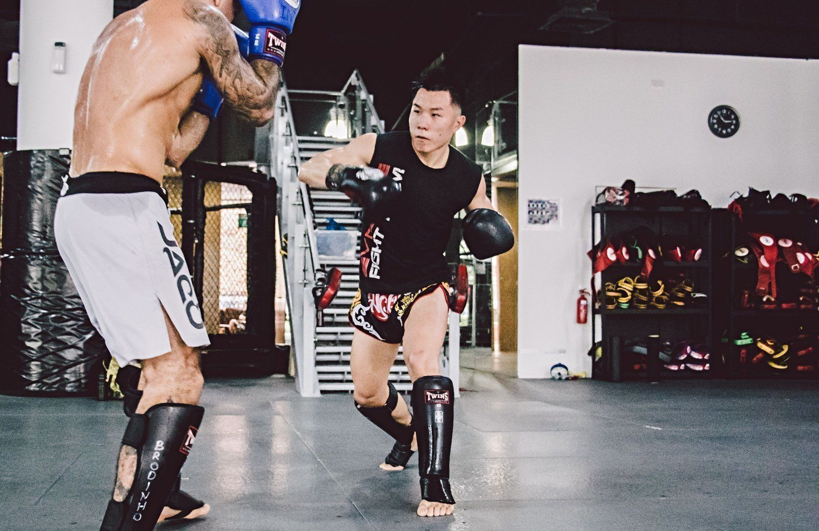 Many Muay Thai practitioners place emphasis on training their core so that they are able to absorb a body shot.