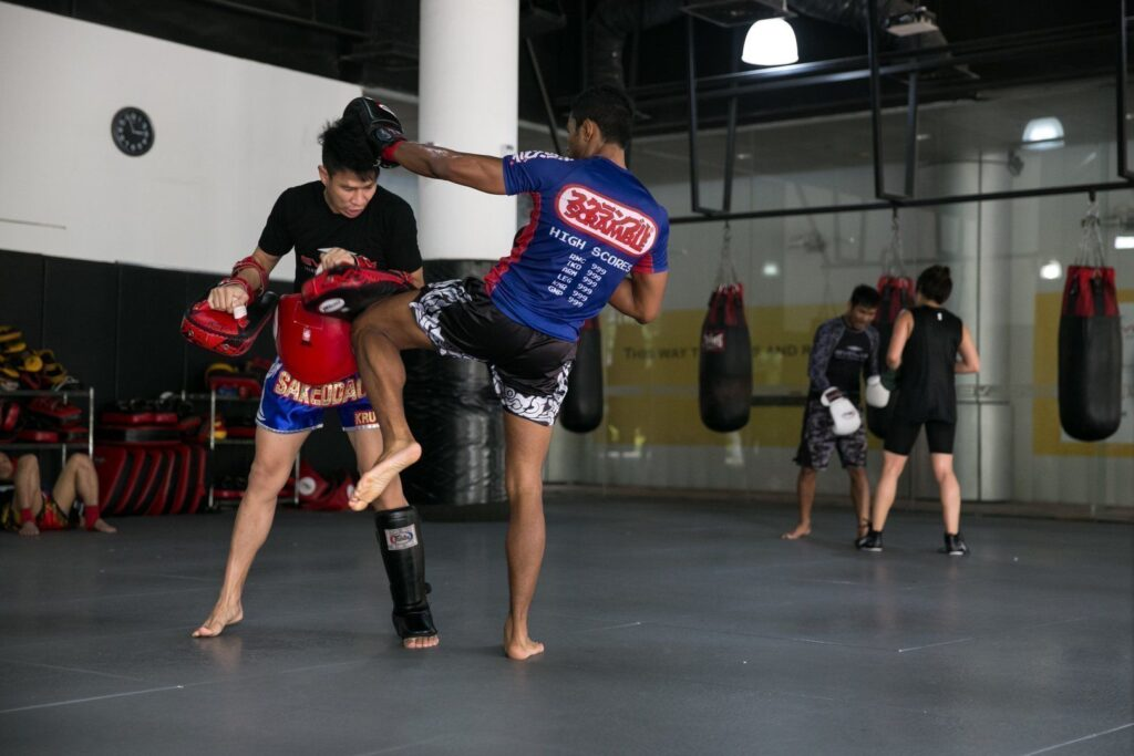 Muay Thai is also known as the art of eight limbs.