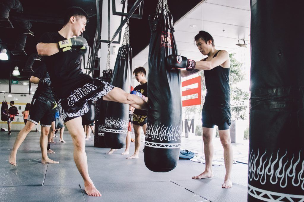 Training with the heavy bag improves your coordination and technique.
