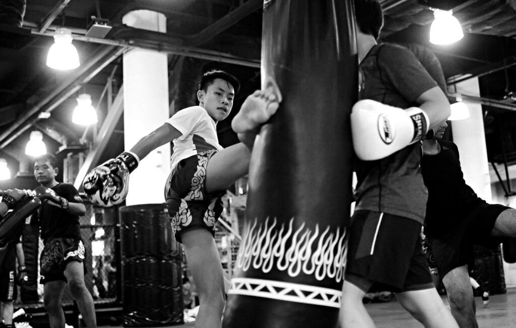 The heavy bag is a great way to build strength and endurance for Muay Thai.