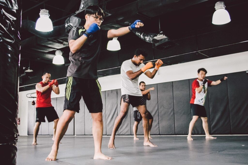 Shadowboxing is an important aspect of training.