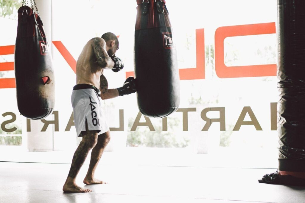 Training with the heavy bag improves your technique and coordination.