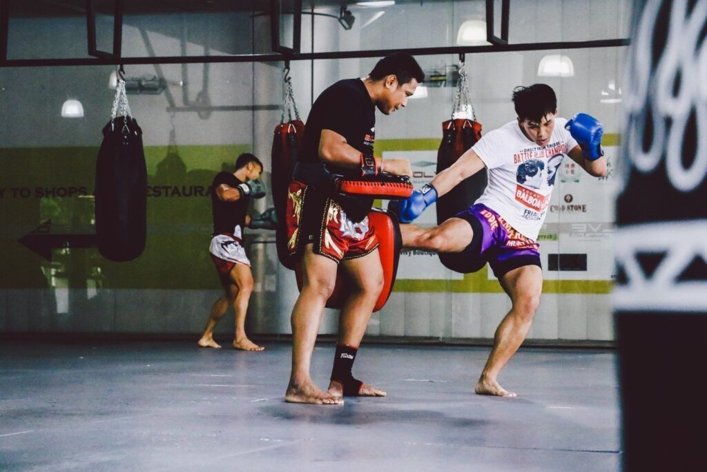 ONE Superstar Eddie Ng trains hard at the Evolve Fighters Program.