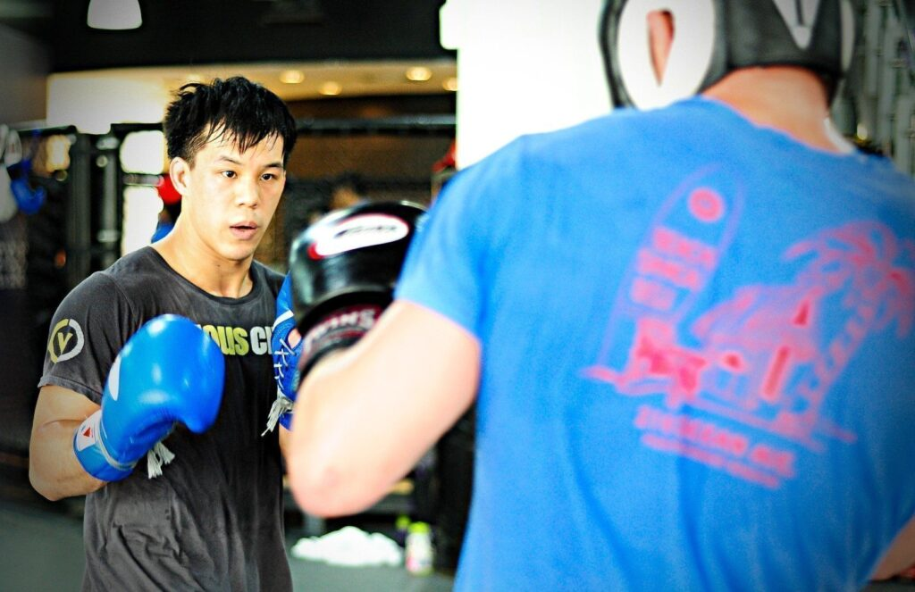 ONE Superstar Eddie Ng trains hard at the Evolve MMA Fighters Program.