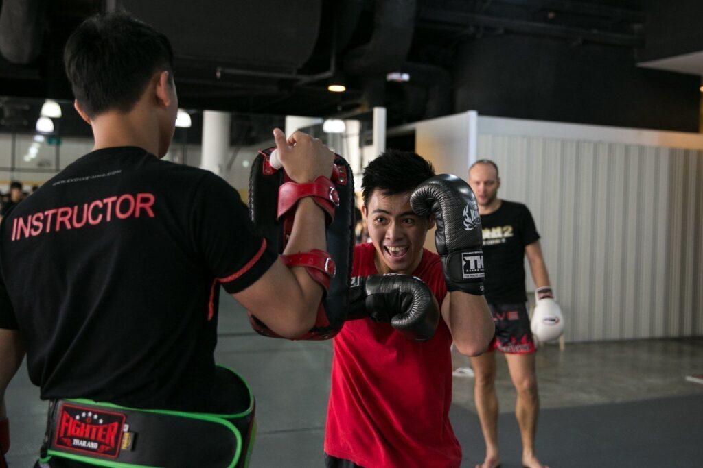 The elbow is a fundamental strike in Muay Thai.