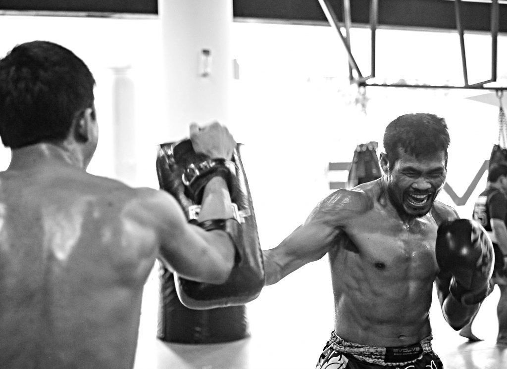 WBA Boxing World Champion and ONE Superstar Yodsanan Sityodtong trains hard at the Evolve MMA Fighters Program.