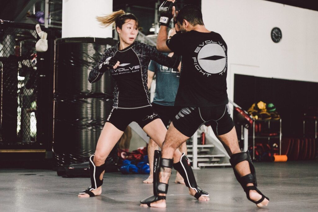 ONE Women's Atomweight World Champion Angela Lee trains hard at the Evolve Fighters Program.