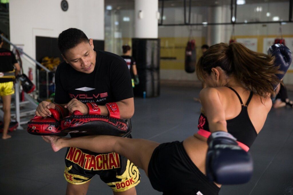Multiple-time Muay Thai World Champion Nonthachai Sit O teaches at Evolve MMA.