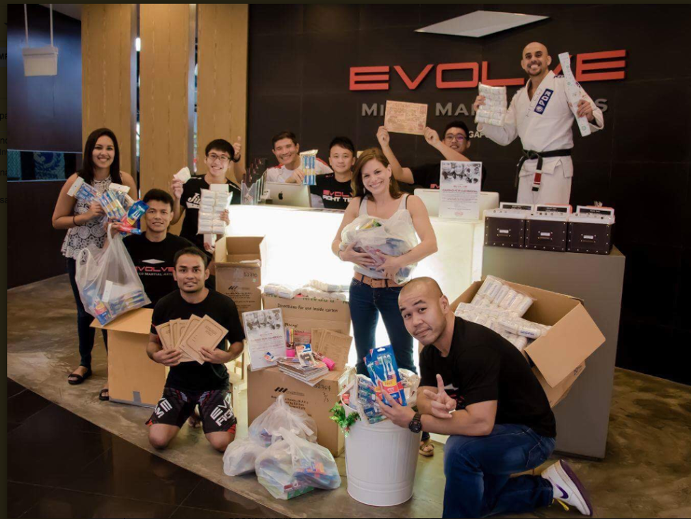 Donations at Evolve MMA.