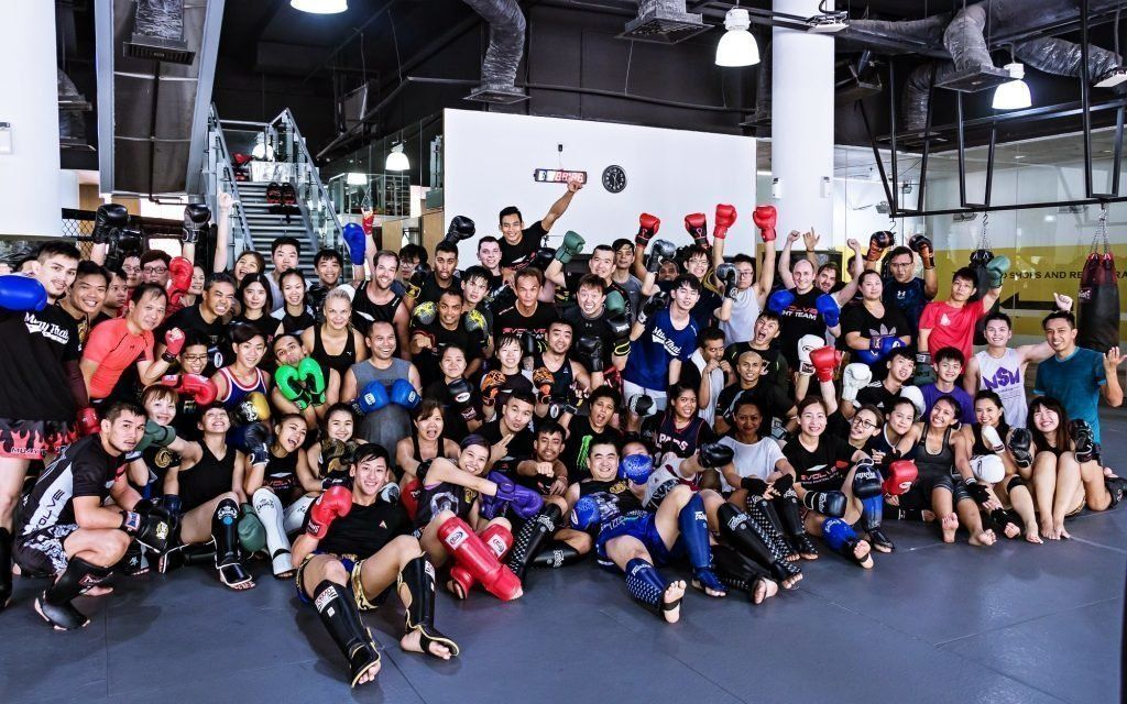 muay thai group shot