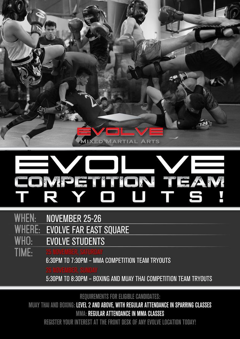 November Evolve MMA Competition Team Tryouts