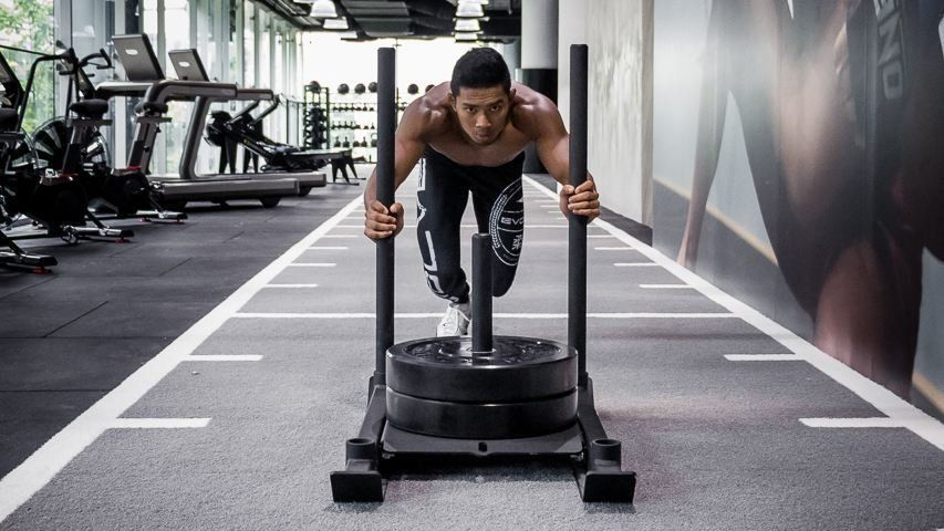 Amir Khan Sled Workout