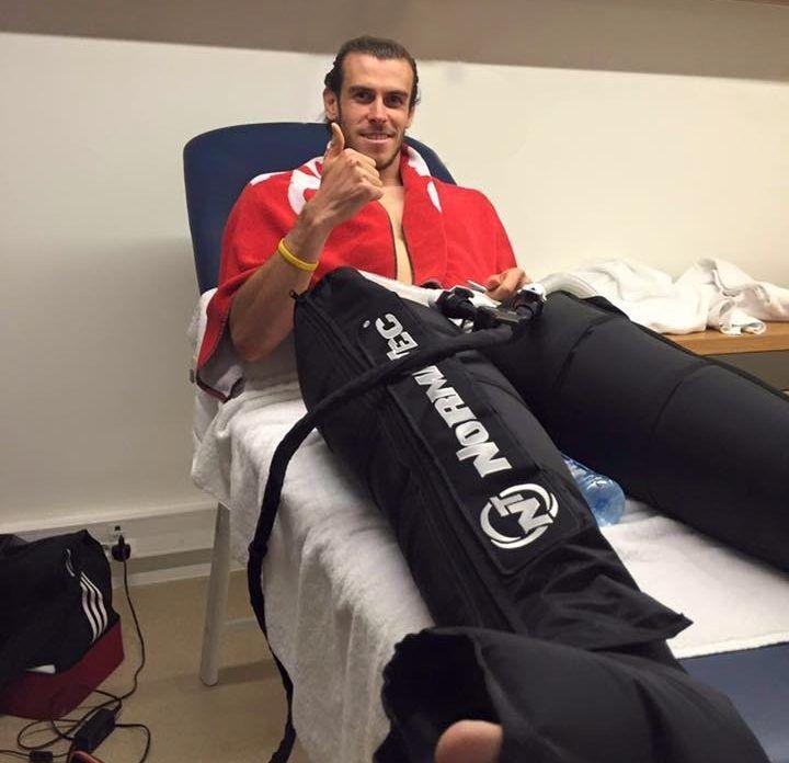 Gareth Bale NormaTec Compression Therapy
