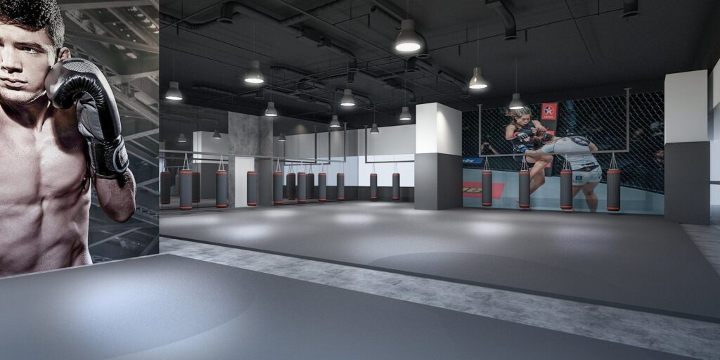 EVOLVE KINEX Muay Thai Training Room