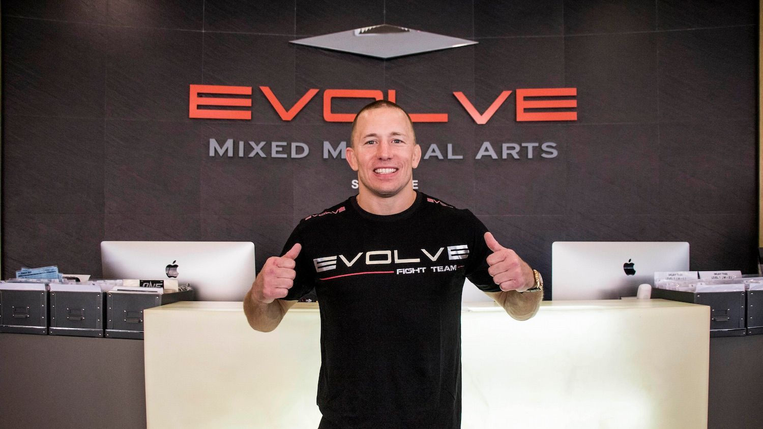 Georges St Pierre at Evolve MMA