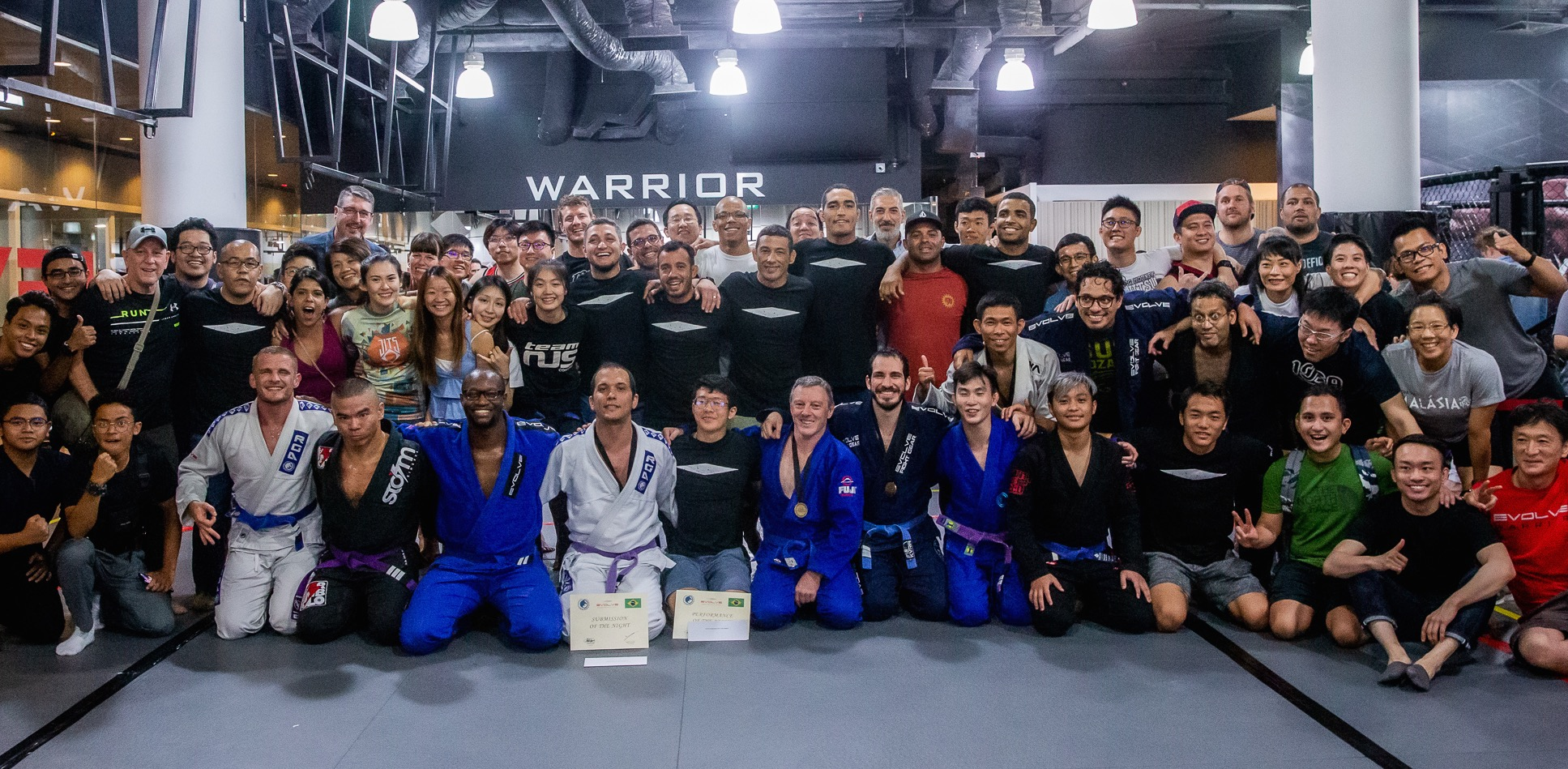 A group of BJJ competitors.