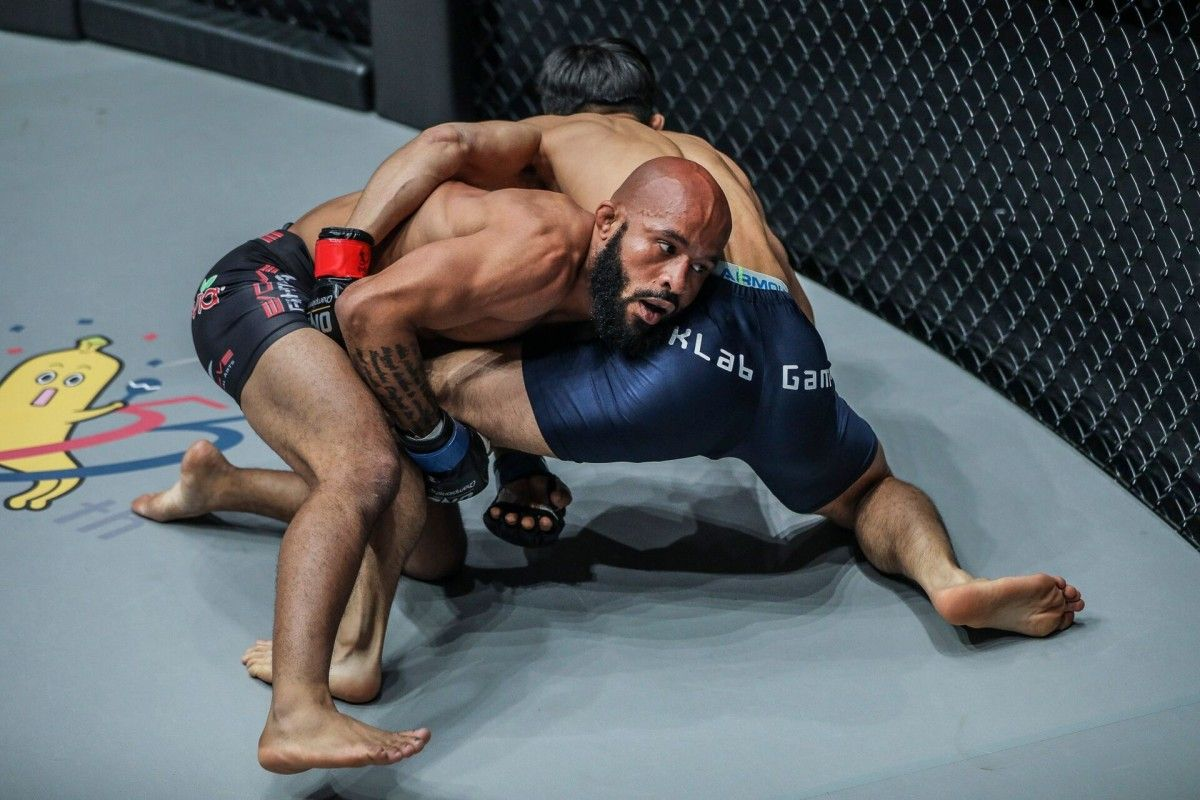 Demetrious Johnson wrestling in ONE Championship
