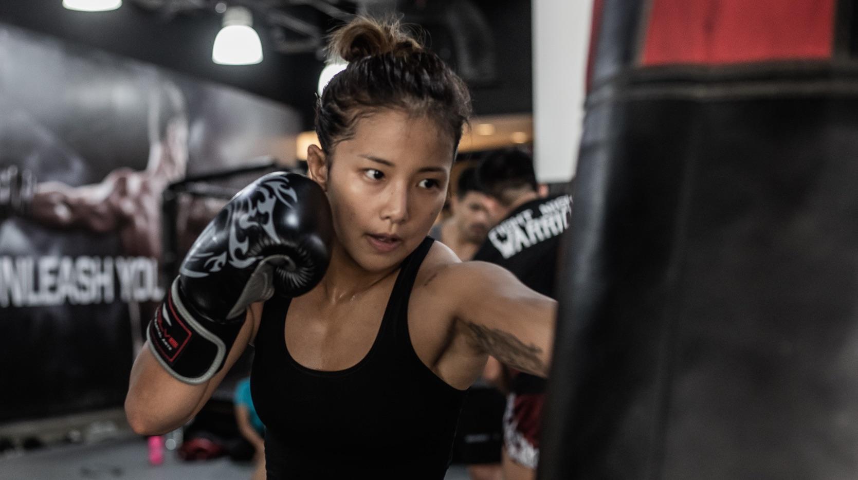 song ka yeon boxing bag