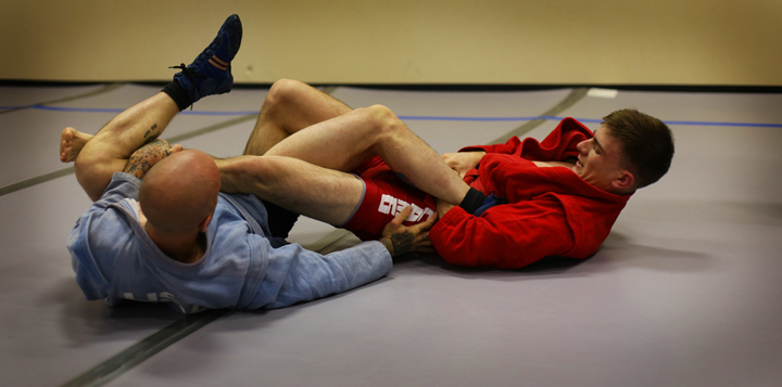 Sambo-ankle-lock