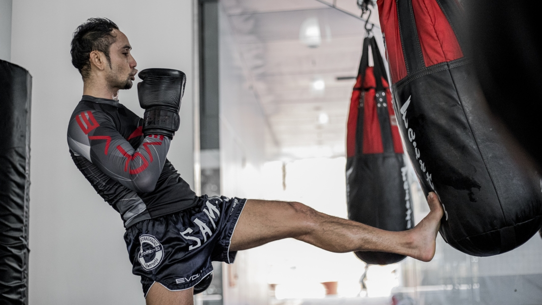 Muay Thai push kick