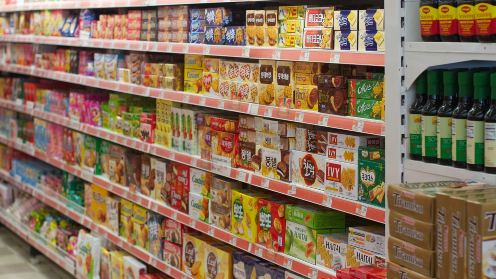 packaged food and snacks